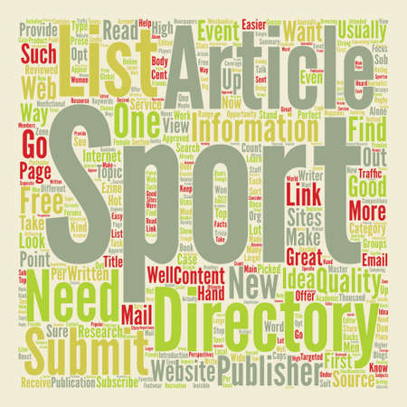 articles: Sports Articles text background word cloud concept