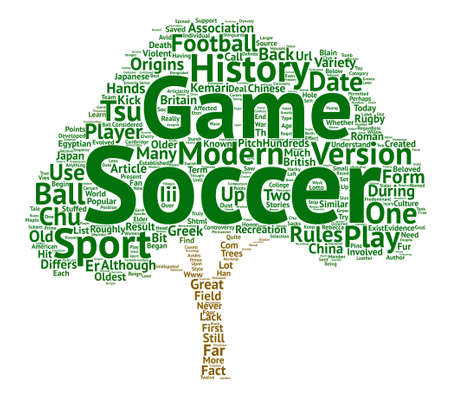 The World s Most Beloved Sport The History of Soccer text background word cloud concept