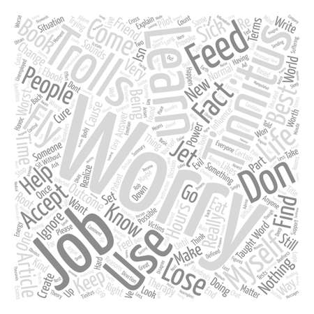 Tinnitus Don t Feed the Trolls text background wordcloud concept