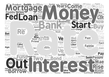 The Source Of Mortgage Money Word Cloud Concept Text Background