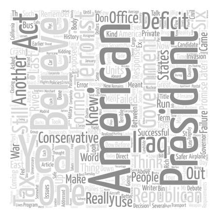 knew: Six Years Later A Failed Presidency Word Cloud Concept Text Background