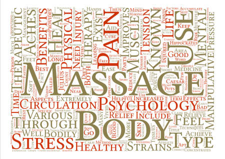 Therapeutic Massage text background word cloud concept