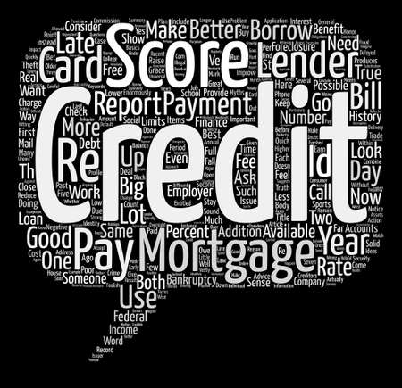 The Truth About Credit Score Myths text background word cloud concept Illustration