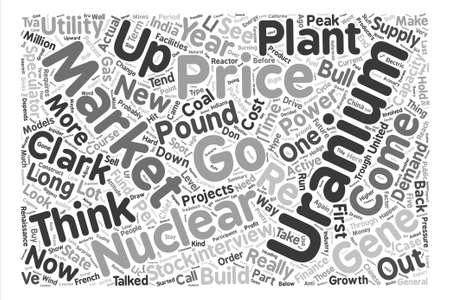 uranium: Speculators Could Drive Uranium to Pound Word Cloud Concept Text Background