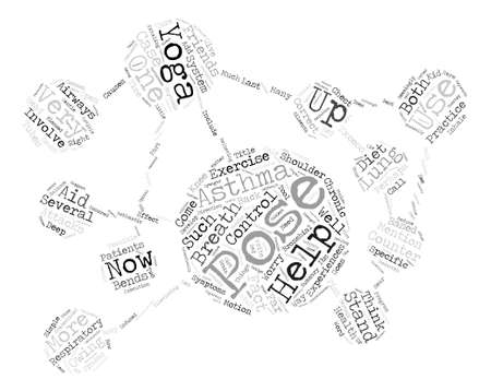 There s help for Asthma in Yoga text design word cloud concept Ilustrace