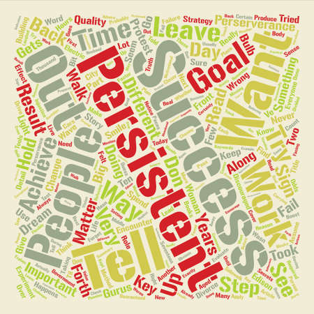 The Truth About Perserverance and Goals Word Cloud Concept Text design