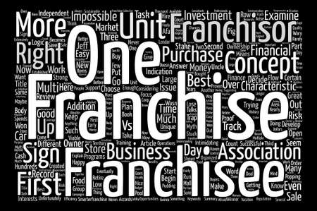 Three Signs Of A Franchise Winner text background word cloud concept