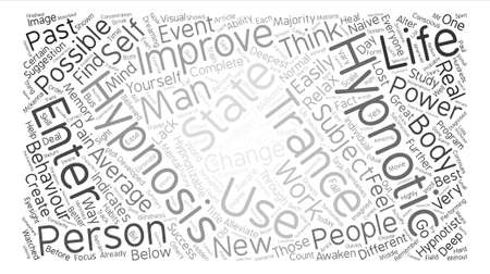 admit: The Skinny On Hypnotherapy Word Cloud Concept Text Background Illustration
