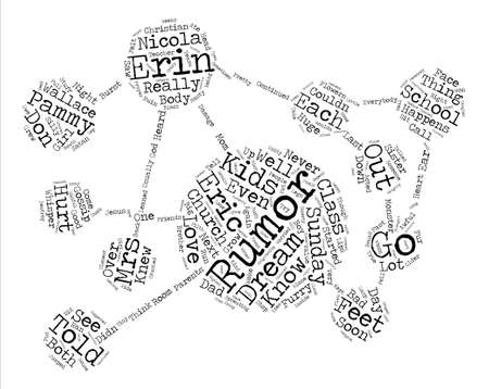 children s feet: The Rumor with Furry Feet text design word cloud concept Illustration