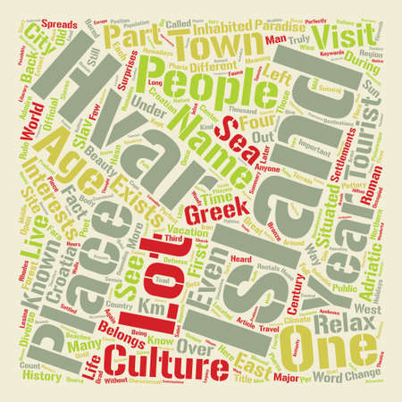 Have you heard about Hvar Island text background wordcloud concept