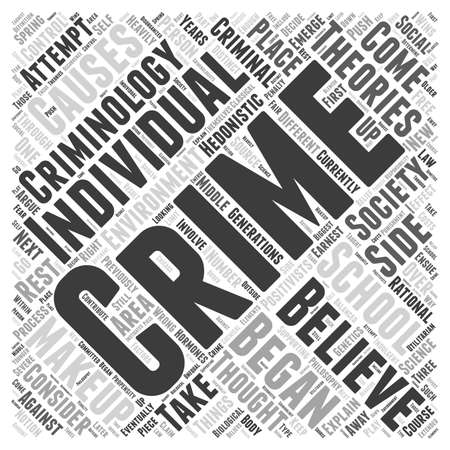 What is Criminology Word Cloud Concept