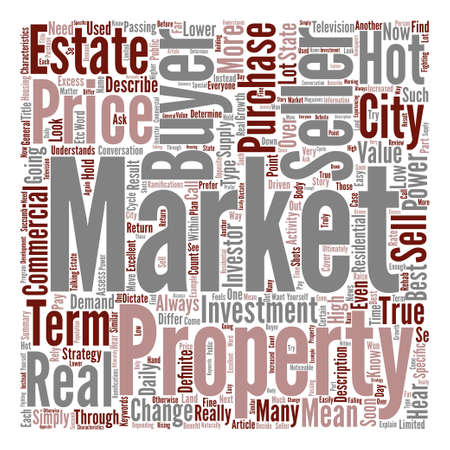 The True Story About A Buyer s Market text background wordcloud concept Vector Illustration