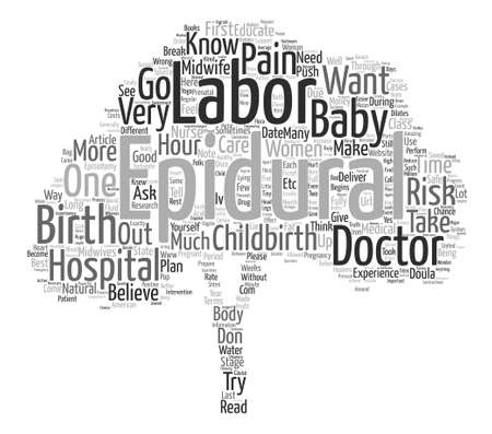 ingram: The Truth about Childbirth and Labor text background word cloud concept