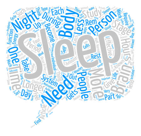 Sleep Study Findings text background word cloud concept