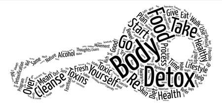 body detox text background word cloud concept