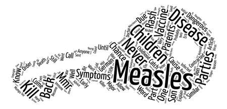 Advice to Parents on Childhood Measles Part I Word Cloud Concept Text Background