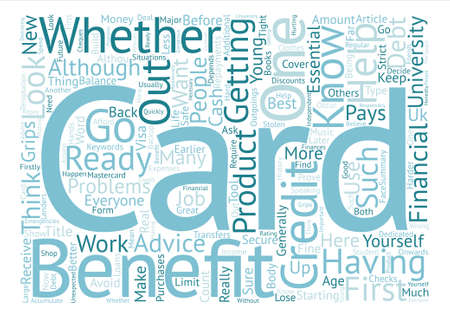 looked: Are You Ready For A Credit Card text background word cloud concept