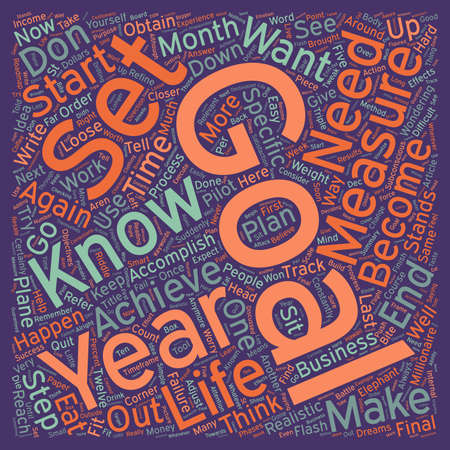 next year: Make Your Life Happen In 2006 text background wordcloud concept
