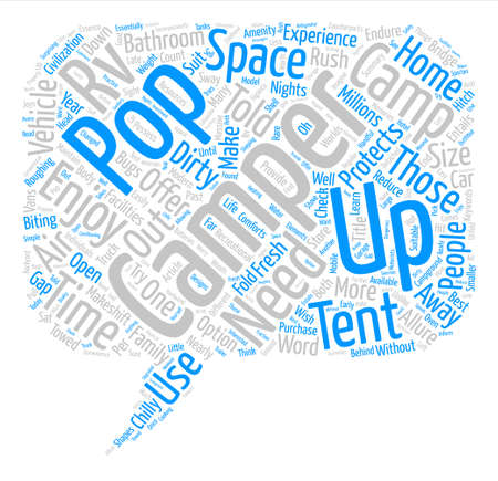 A Pop Up Camper Offers The Best Of Both Worlds text background word cloud concept