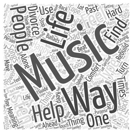 listen to music Word Cloud Concept