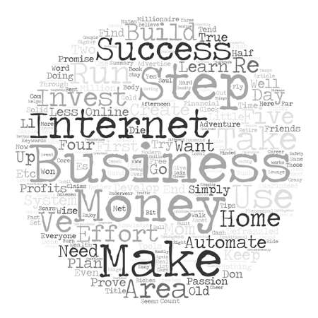 creating wealth: A Defrazzled Home Business text background word cloud concept