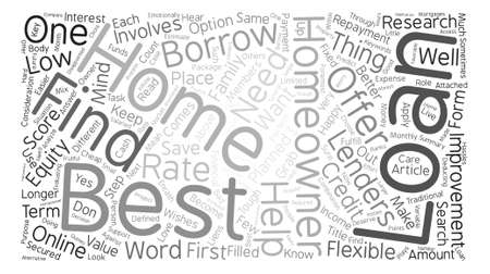 homeowners: Best Homeowner Loans Perfect Package for homeowners Word Cloud Concept Text Background