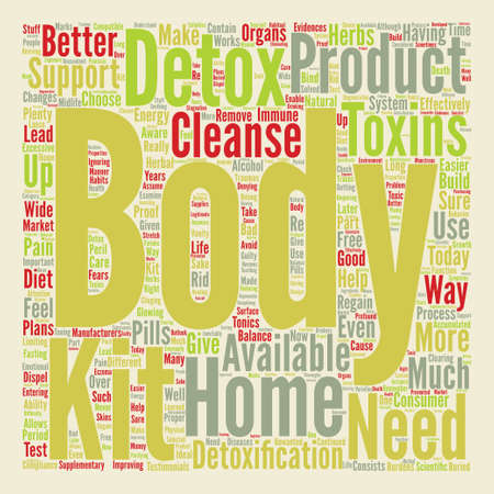 body detox home kit text background word cloud concept
