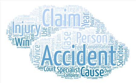 Accident Claims Advice text background word cloud concept