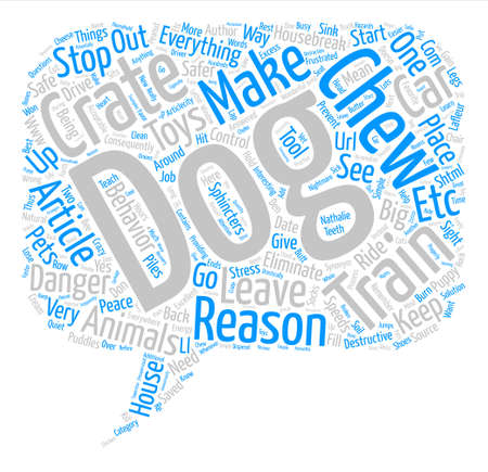 http: Big Reasons to Crate Train your Dog text background word cloud concept Illustration