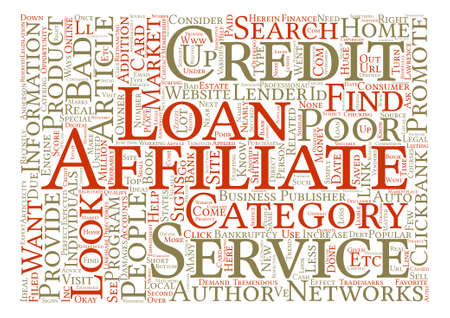 http: Affiliate Opportunity The Bad Credit Market text background word cloud concept