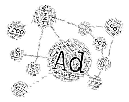 Adware Are Downloads Safe text background word cloud concept