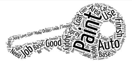 interesting: Auto Paint How To A Basic Guide text background word cloud concept Illustration
