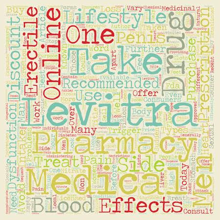 Levitra Drug text background wordcloud concept