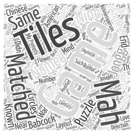 named person: MAH JONGG Mind Puzzles Word Cloud Concept