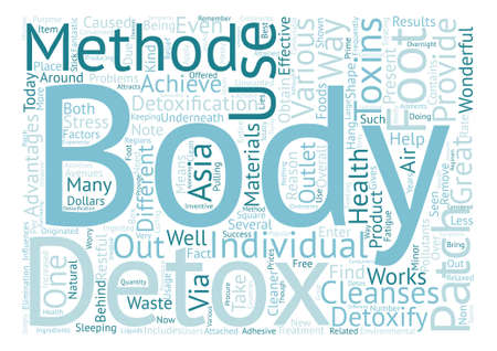 body detox patch Word Cloud Concept Text Background