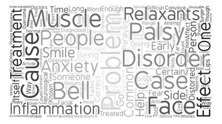 Bells But No Whistles Bell s Palsy Word Cloud Concept Text Background Ilustração