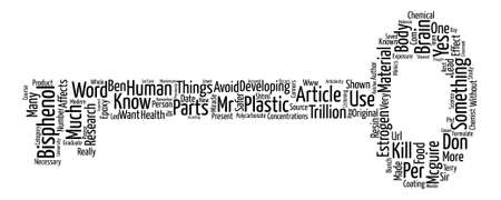 Bisphenol A and You text background word cloud concept