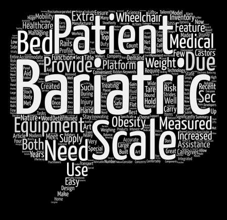bariatric: Bariatric Scales Word Cloud Concept Text Background