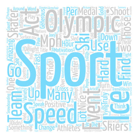 Armchair Olympian Word Cloud Concept Text Background Illustration
