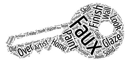 A Sampler of Faux Finish Techniques Word Cloud Concept Text Background Ilustrace