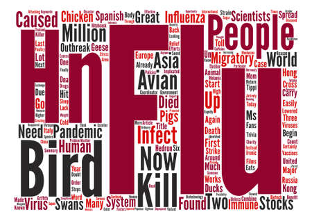 hn: Bird Flu Is In The US text background word cloud concept Illustration