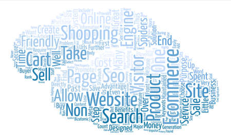 Benefits Of SEO For Ecommerce Word Cloud Concept Text Background