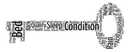 Adjustable Beds Sleep Pain Free and Get Money Back Too text background word cloud concept