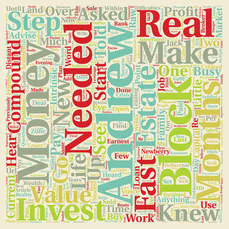 knew: Make Money Fast With No Investment how Andrew Made 100 000 In 6 Months text background wordcloud concept