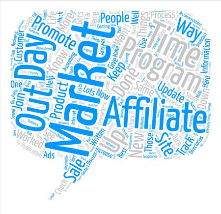 A day In The Life Of An Affiliate Marketer text background word cloud concept