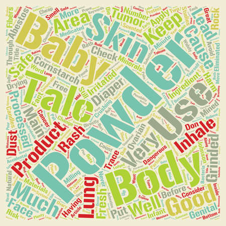 Protect Your Baby Talc Is Extremely Dangerous text background wordcloud concept