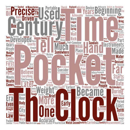 devised: A Brief History Of Pocket Watches text background word cloud concept