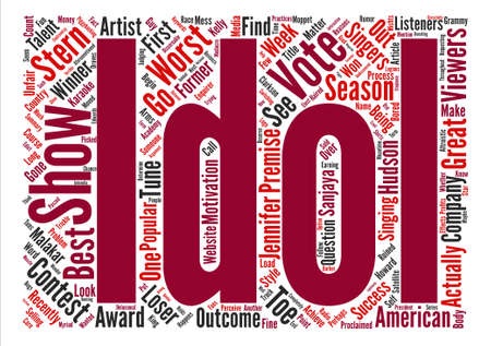 American Idol Do Not Vote For The Worst text background word cloud concept