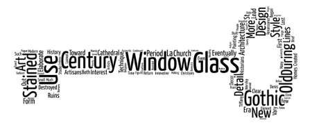 A Brief History of Stained Glass Word Cloud Concept Text Background