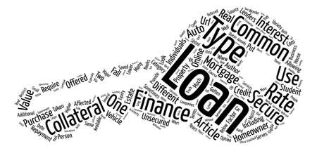 A Look at Common Types of Loans text background word cloud concept